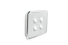 Clipsal Classic 4 Gang Light Switch with Ghost Grey Cover