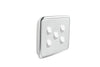 Clipsal Classic 5 Gang Light Switch with Ghost Grey Cover