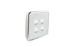 Light Switch Cover - 4 Gang - Ghost Grey