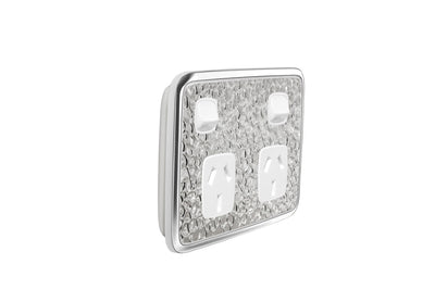 Double Powerpoint Cover Plate - Hammer Metal