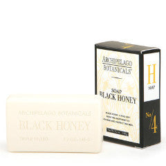 Archipelago black honey bar soap