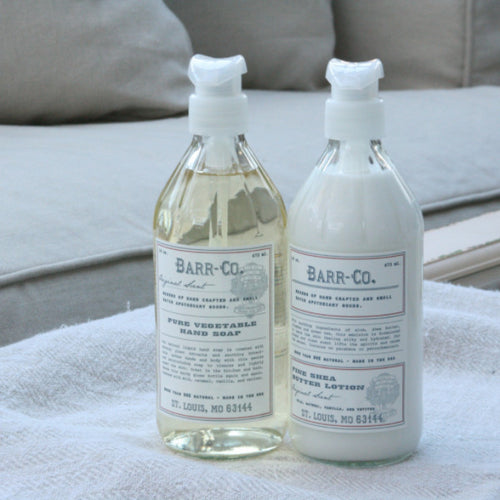 Barr-co lotion and liquid hand soap