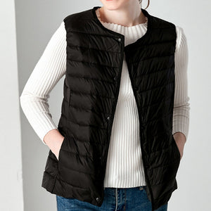 2019 Winter Vest Female Women's Plus Size 4XL Sleeveless Jacket Warm Waistcoat Autumn Lightweight White Duck Down Vests Women