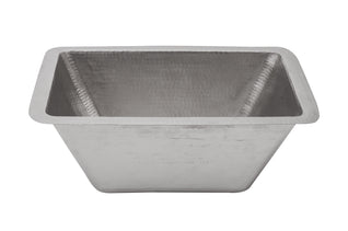 "Rectangle Copper Bar Sink in Electroless Nickel w/ 2"" Drain Size"