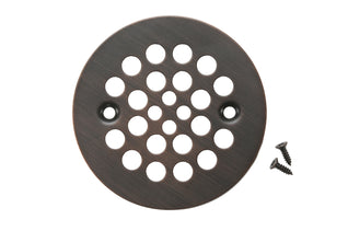 "4.25"" Round Shower Drain Cover in Oil Rubbed Bronze"