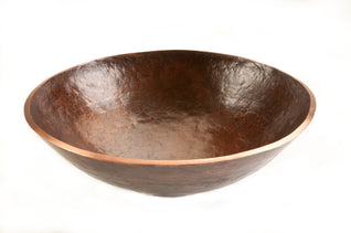 Round Hand Forged Old World Copper Vessel Sink