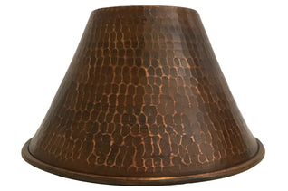 "Hand Hammered Copper 7"" Cone Pendant Light Shade"