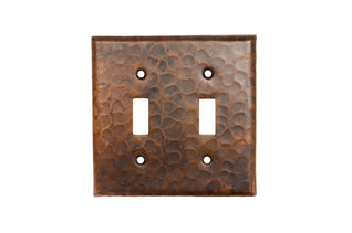 Copper Switchplate Double Toggle Switch Cover - Quantity 2