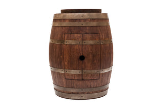 "Wine Barrel Vanity Package with 17"" Oval Skirted Vessel Copper Sink - Whiskey Finish"