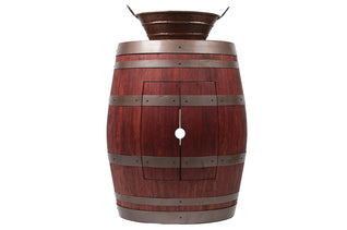 "Wine Barrel Vanity Package with 16"" Oval Bucket Vessel Sink with Handles - Cabernet Finish"