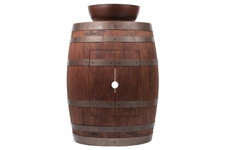 "Wine Barrel Vanity Package with 15"" Round Vessel Sink - Whiskey Finish"