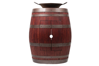 "Wine Barrel Vanity Package with 16"" Round Miners Pan Vessel Sink_- Cabernet Finish"