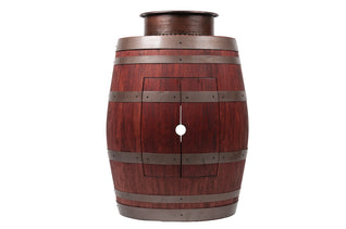 "Wine Barrel Vanity Package with 15"" Round Vessel Tub Sink_- Cabernet Finish"