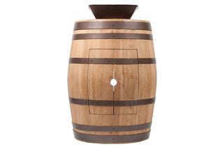"Wine Barrel Vanity Package with 14"" Square Vessel Sink - Natural Finish"