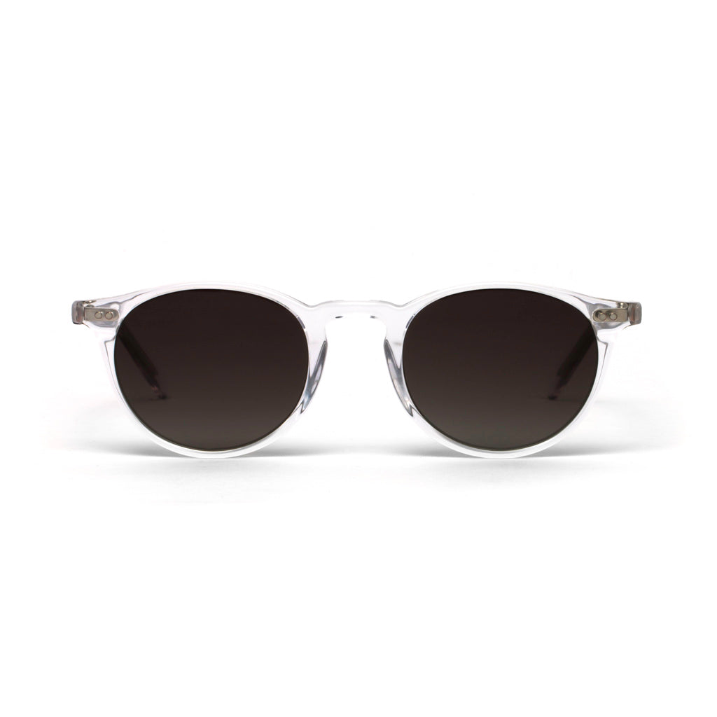 Elton Crystal Silver Core Grey Gradient Lens