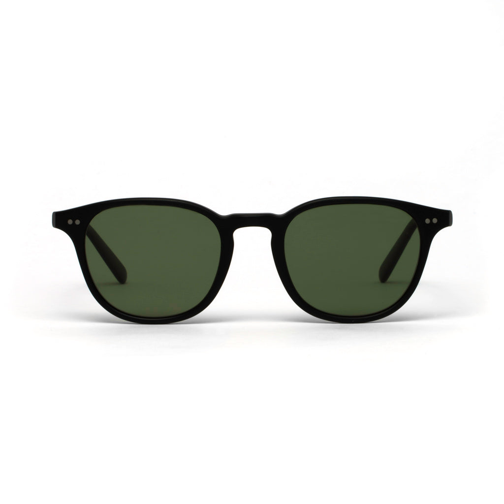 Morgan Black Matt Green Lens