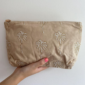 Palmier Taupe Everyday Pouch
