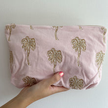 Load image into Gallery viewer, Palmier Rosewater Velvet Everyday Pouch