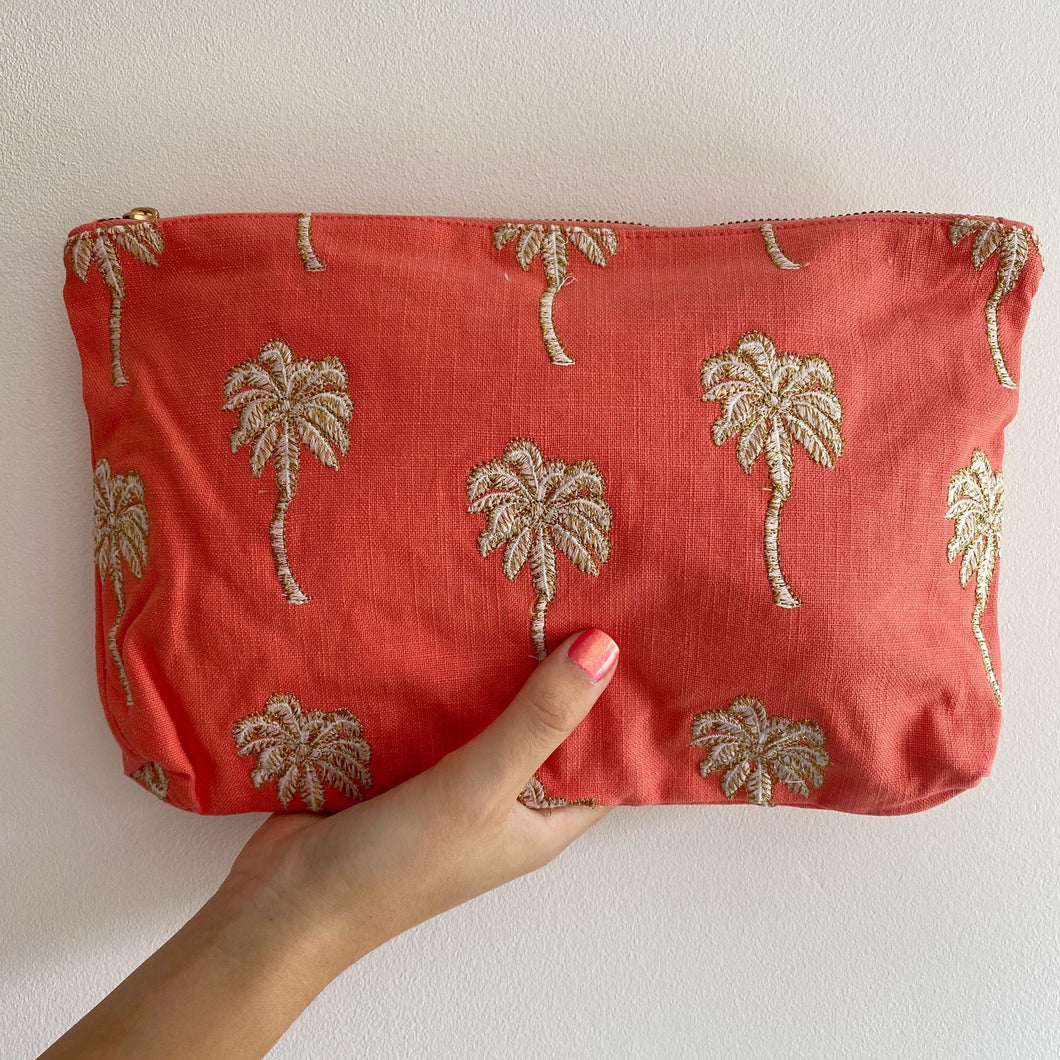 Palmier Coral Everyday Pouch