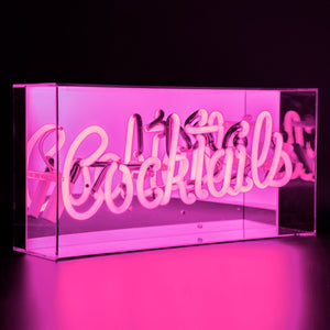 Cocktail Pink Neon Light