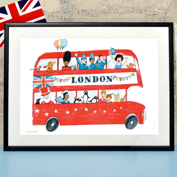 Children's London Bus Print