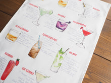 Load image into Gallery viewer, Cocktail Recipe Tea Towel