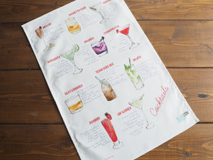 Cocktail Recipe Tea Towel
