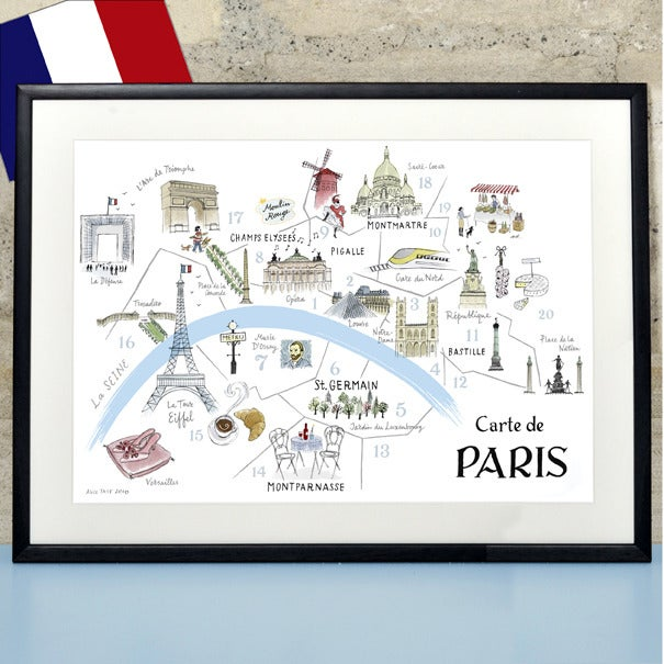 Alice Tait 'Map of Paris'