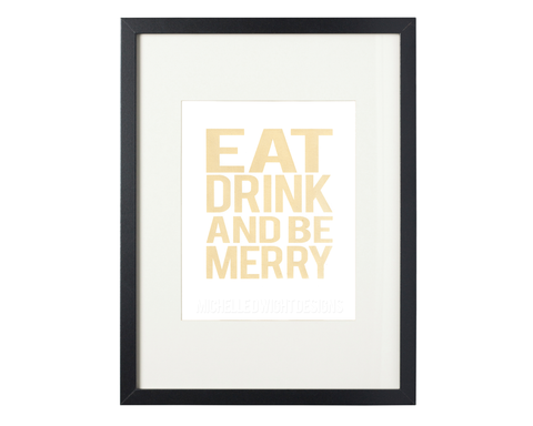 Be Merry 8x10 Print (gold)