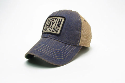 Hustle Trucker Hat (Blue)