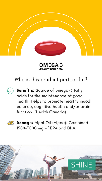 Best Omega 3 Algea plant based oil to reduce stress and anxiety