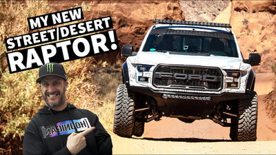 Ken Block tests his new fully built Ford Raptor by SVC Offroad in Moab!