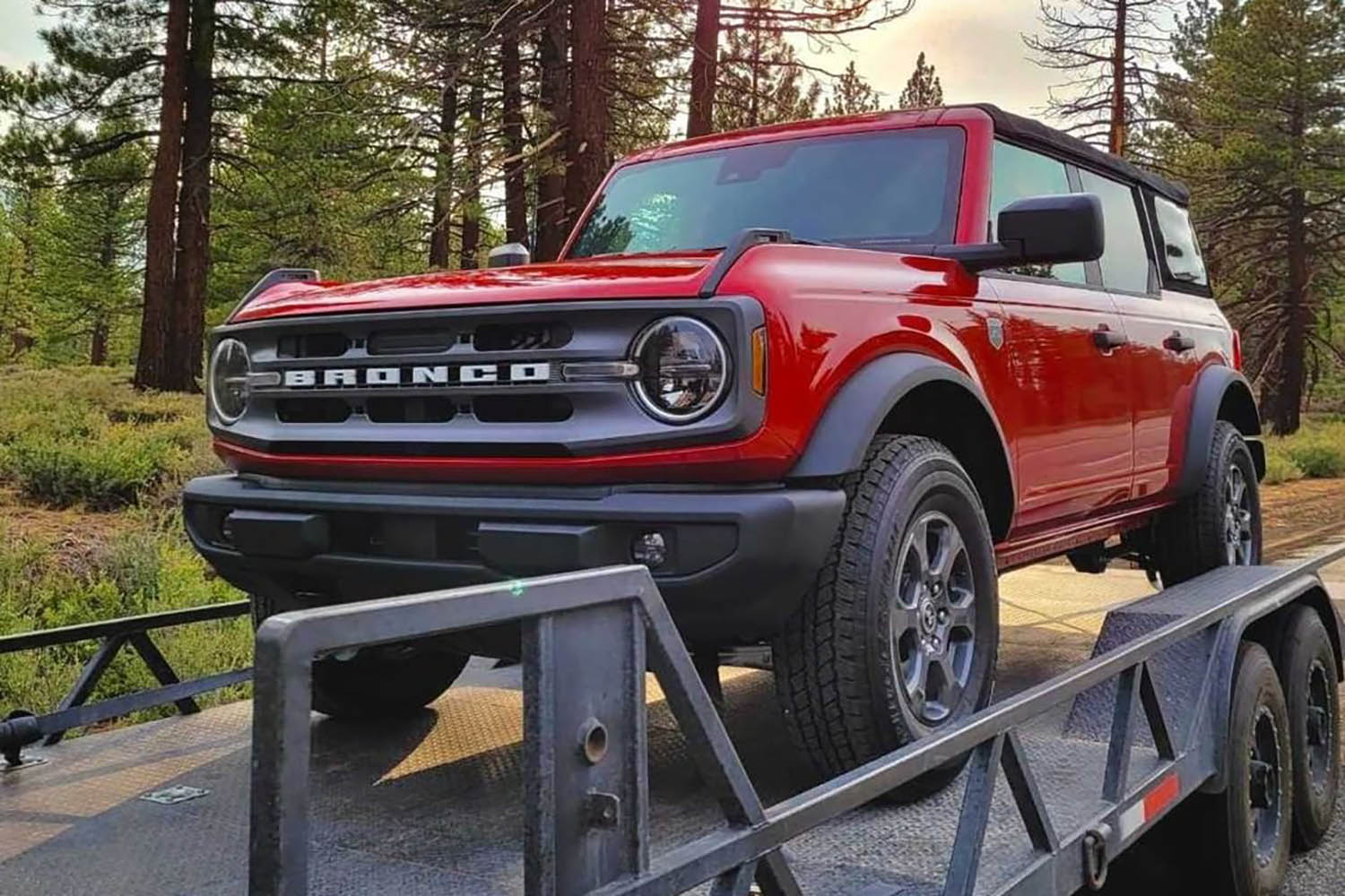 brand new 2021 ford bronco big bend getting delivered to svc offroad