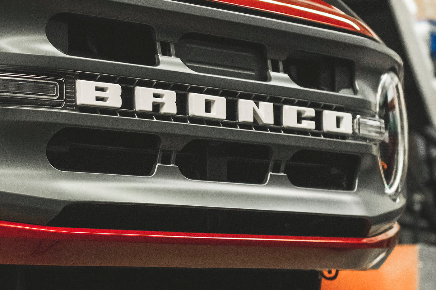 grille of new ford bronco