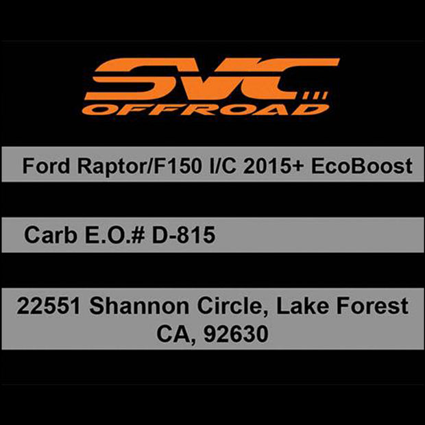 SVC Offroad 2017+ Ford Raptor Intercooler - SVC Offroad