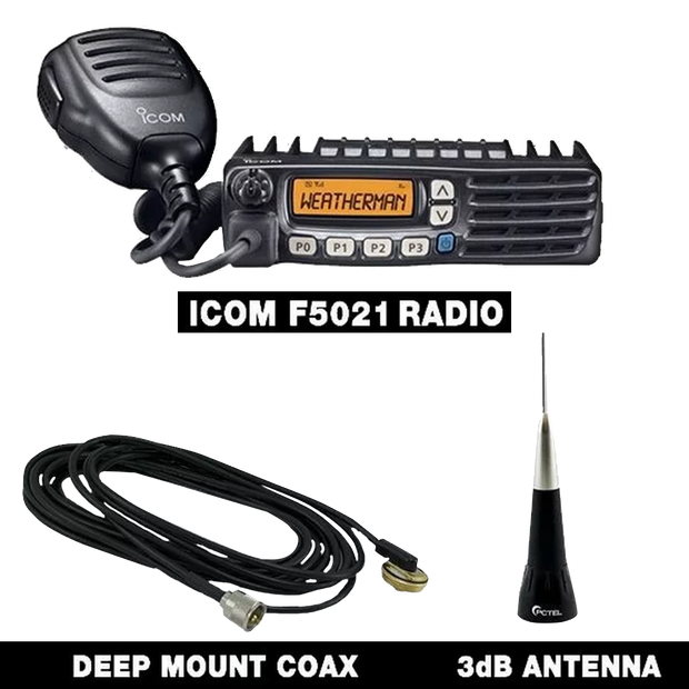 Icom Mobile F5021 Radio Chase Package - SVC Offroad