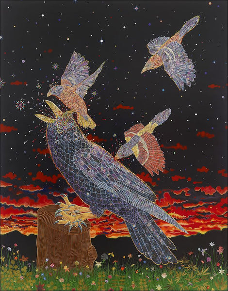 Fred Tomaselli Mob artwork