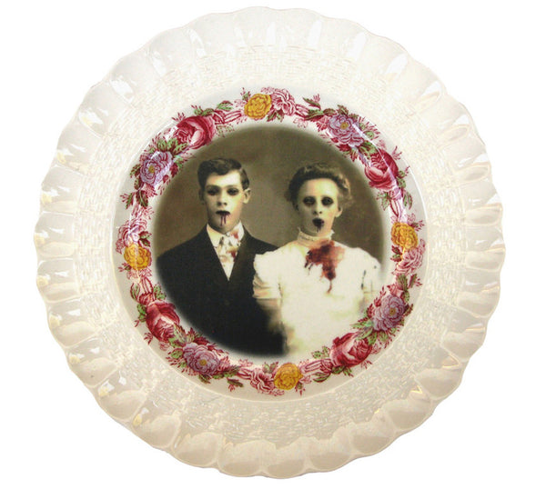 zombie love antique plate