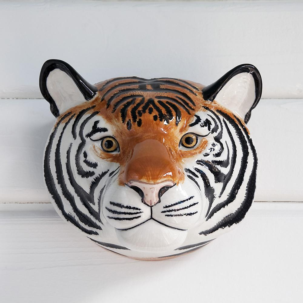 Tiger Wall Vase Ceramic QUA Default Title