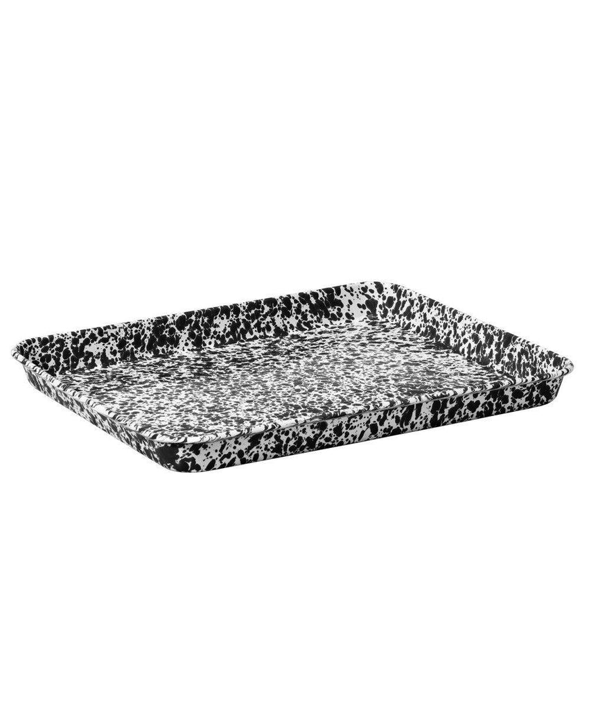 Enamelware Rectangle Slice Tray Metal crow canyon Black