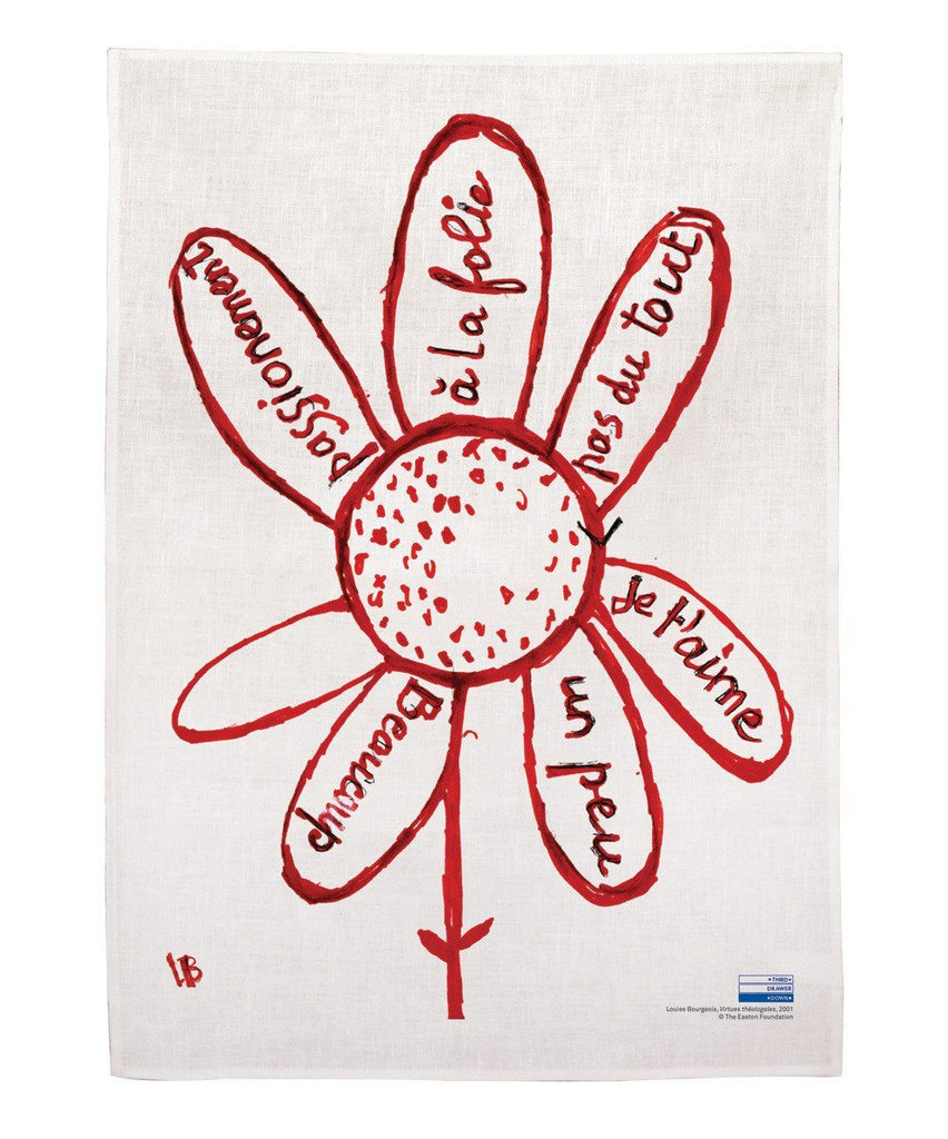 Third Drawer Down X Louise Bourgeois, Virtues Theologales Linen Tea Towel