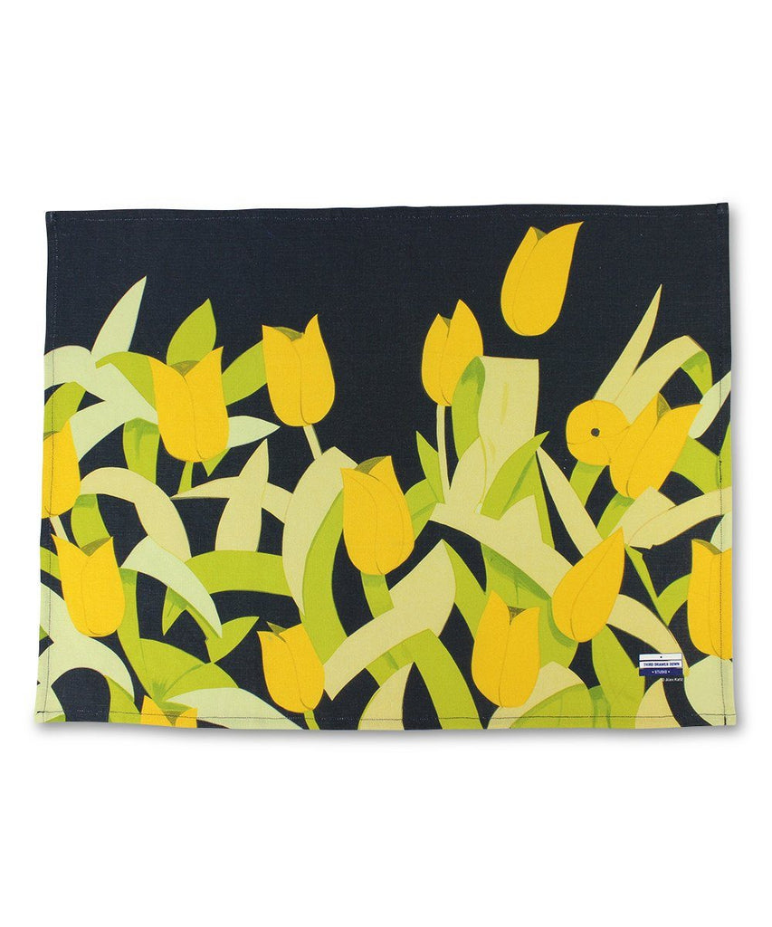 Tulips Linen Tea Towel x Alex Katz-Third Drawer Down