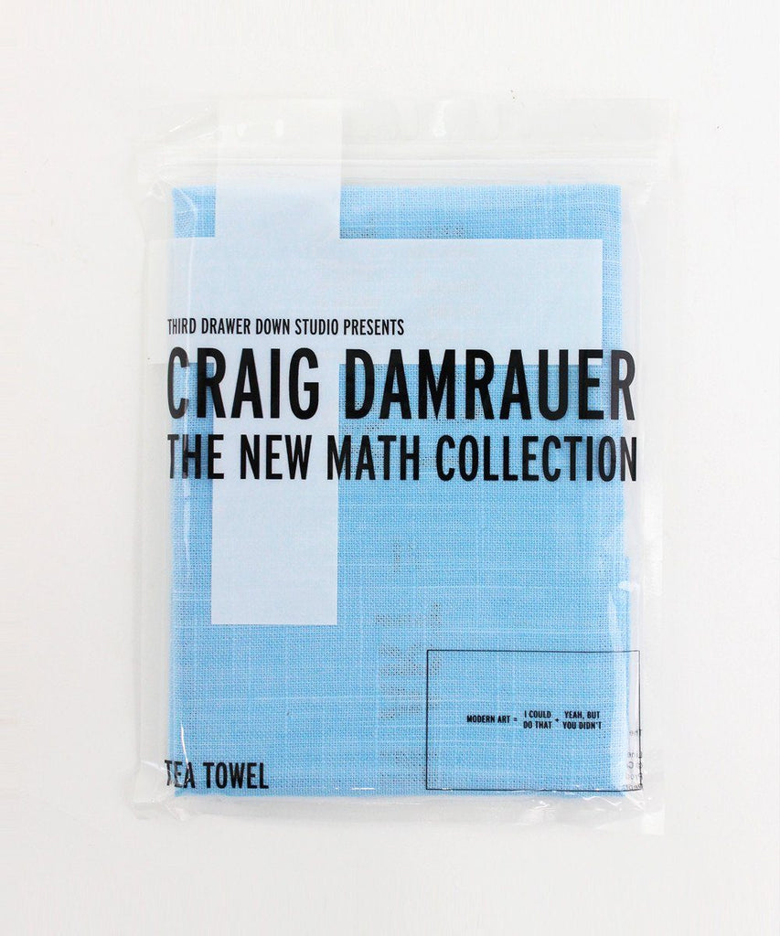 Third Drawer Down X Craig Damrauer, New Math Collection Tea Towels Textile Third Drawer Down