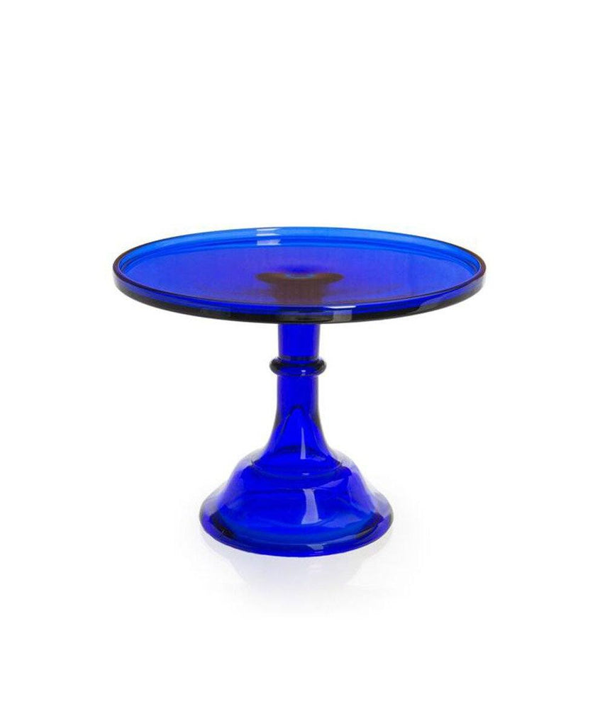 Large Cake Stand, Cobalt Glass Mosser Glass