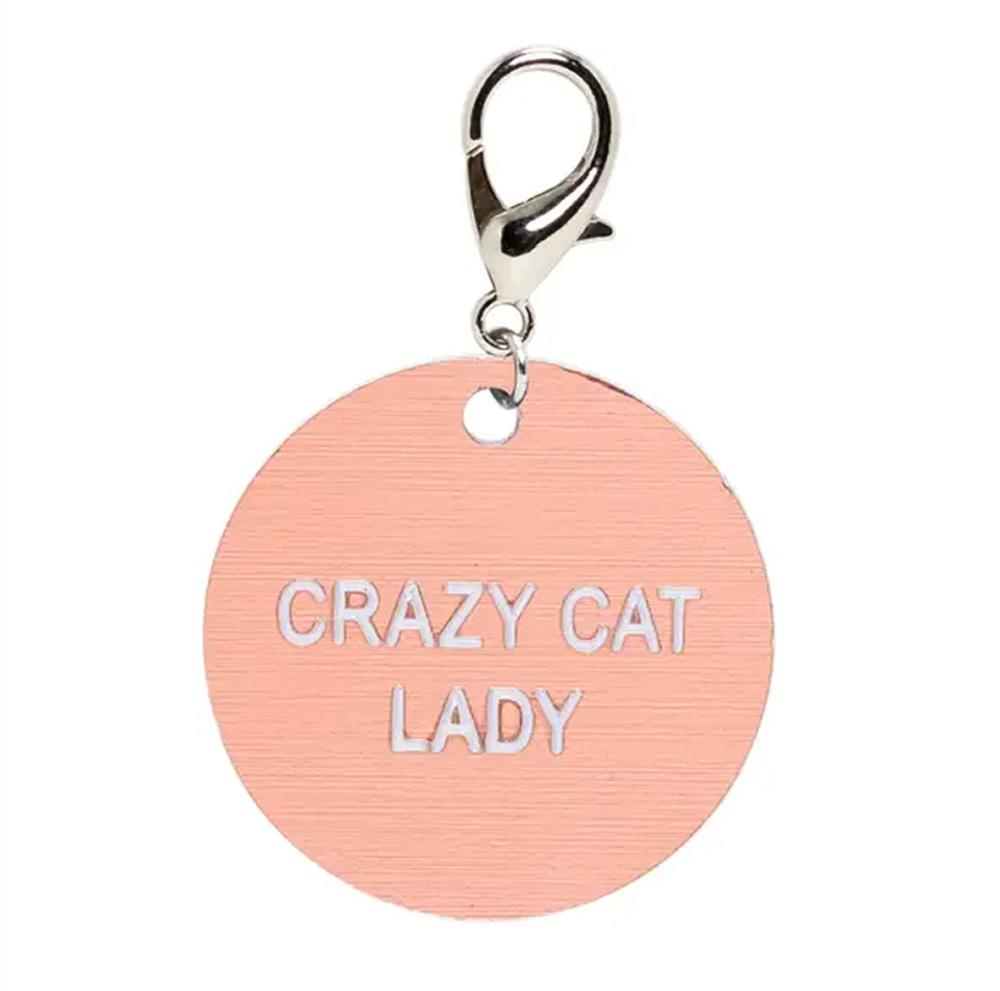 Novelty Plastic Keytag Other About Face Crazy Cat Lady