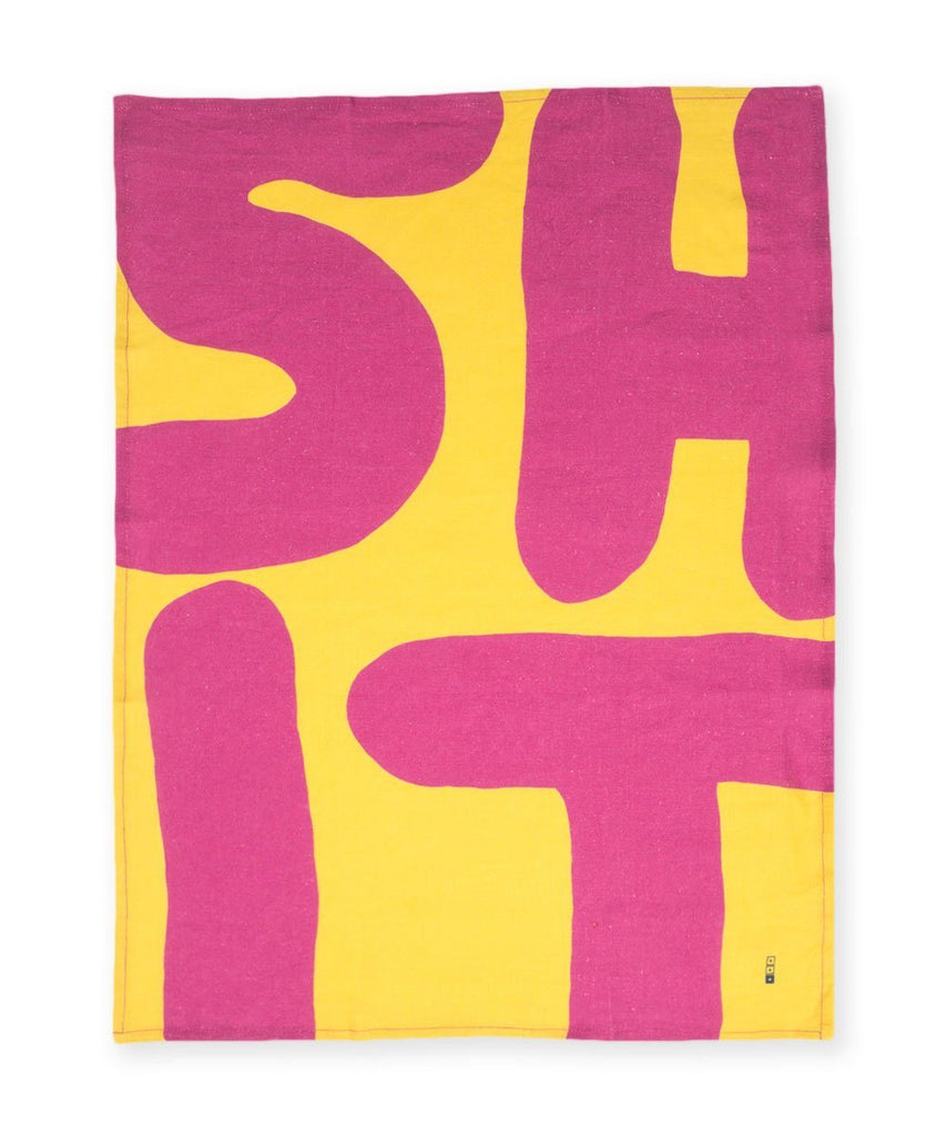 David Shrigley Shit Linen Tea Towel