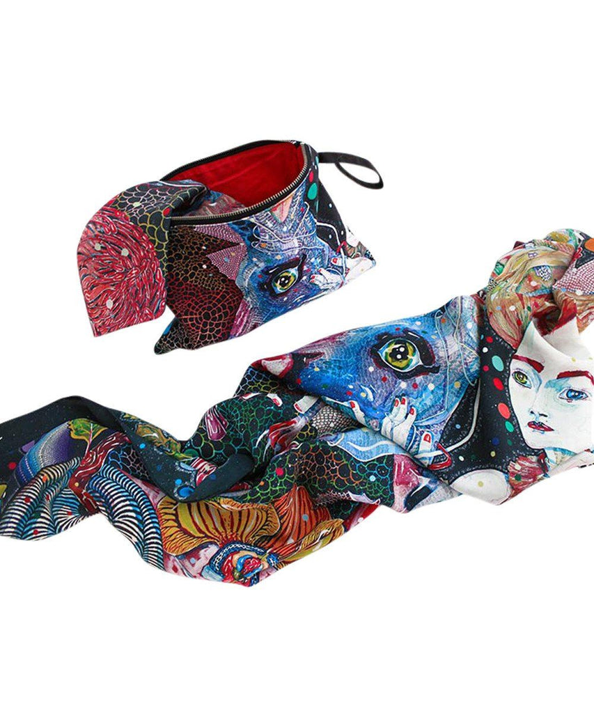 Third Drawer Down X Del Kathryn Barton, Highway Is A Disco Clutch Textile Third Drawer Down