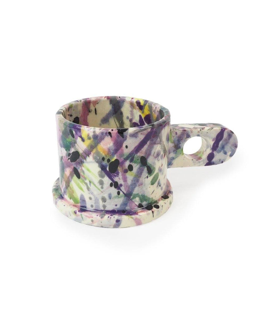 Echo Park Pottery, Splatter Mug / Large Short Ceramic Peter Shire