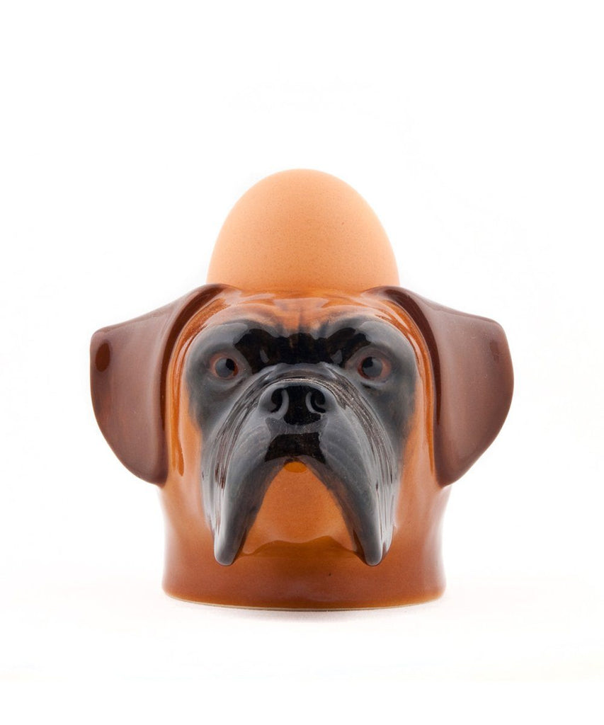 Boxer Face Ceramic Egg Cup-Third Drawer Down