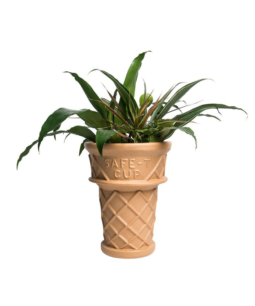 Giant Ice-Cream Cone Planter Plastic Cado